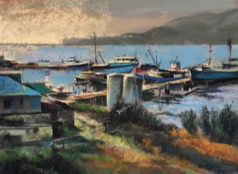 Late Afternoon at Lovric's Boat Yard