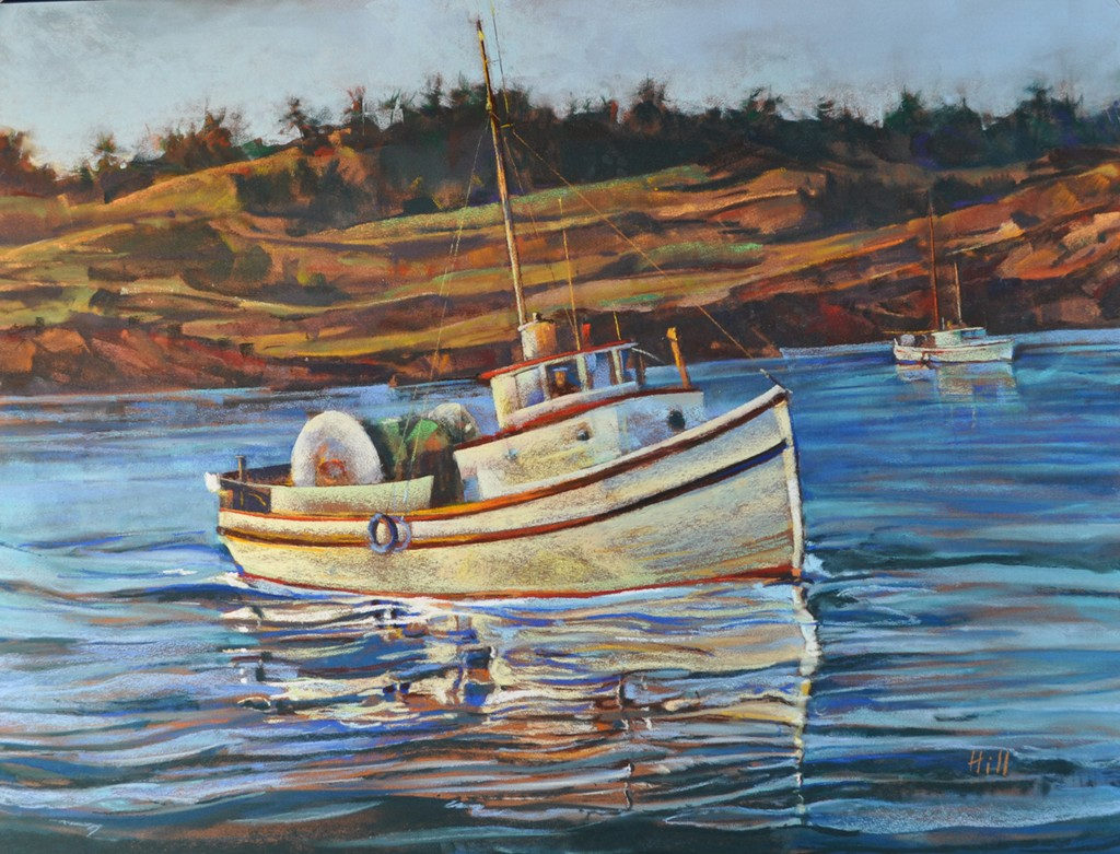 Historic boat painting unveiled steven hill fine for Fishing san juan islands