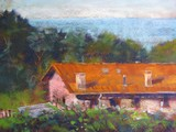 Painted above an old farmhouse overlooking the Bay of Bisque