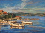 Day's End, Lumbarda, Croatia, 17 x 20 $1200