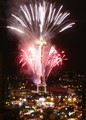Seattle Space Needle celebrates the new year.